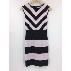 Karen Millen Striped Black/White Sleeveless Mini